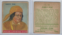 R73 Goudey, Indian Gum, Series 192, 1933, #101 Andy Poe