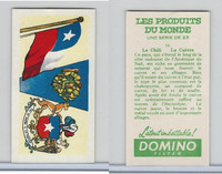 D0-0 Domino, Products of the World, Flags, 1961, #16 Chili