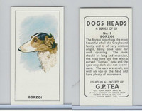 G0-0 G.P. Tea, Dogs Heads, 1963, #9 Borzoi