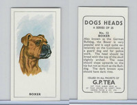 G0-0 G.P. Tea, Dogs Heads, 1963, #12 Boxer