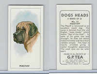 G0-0 G.P. Tea, Dogs Heads, 1963, #13 Mastiff