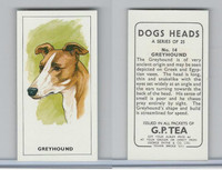 G0-0 G.P. Tea, Dogs Heads, 1963, #14 Greyhound
