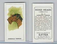 G0-0 G.P. Tea, Dogs Heads, 1963, #17 Airedale Terrier
