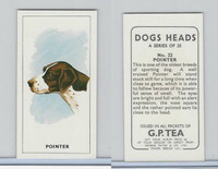 G0-0 G.P. Tea, Dogs Heads, 1963, #22 Pointer