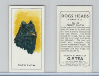 G0-0 G.P. Tea, Dogs Heads, 1963, #25 Chow Chow