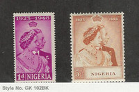 Nigeria, Postage Stamp, #73 Hinged, 74 Mint NH, 1948, JFZ