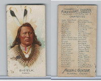 N2 Allen & Ginter, Celebrated American Indian Chiefs, 1888, Big Elk (B)