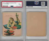 R59 Gum Inc, American Beauties, 1944, A Live Wire, PSA 7.5 NM+