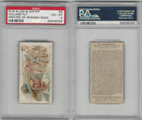 N19 Allen & Ginter, Pirates of the Spanish Main, #3 William Fly, PSA 4 VGEX