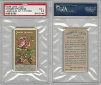 N366 Lone Jack, Language of Flowers, 1887, Chinese Primrose, PSA 5.5 EX+