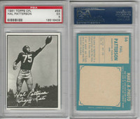 1961 Topps CFL Football, #56 Hal Patterson, Hamilton Tiger Cats, PSA 5 EX