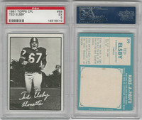 1961 Topps CFL Football, #59 Ted Alsby, Montreal Alouttes, PSA 5 EX