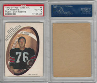 1970 O-Pee-Chee Push-Out CFL Football, #6 Jay Roberts, Ottawa, PSA 4 VGEX