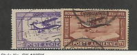 Egypt, Postage Stamp, #C1-C2 Used, 1926-29 Airplane, JFZ