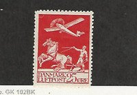 Denmark, Postage Stamp, #C3 Mint Hinged, 1926 Airplane, JFZ