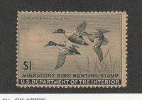 United States, Postage Stamp, #RW12 Mint No Gum, 1945 Duck Hunt, JFZ