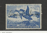 United States, Postage Stamp, #RW19 Used, 1952 Duck Hunt, JFZ