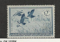 United States, Postage Stamp, #RW22 Used, 1955 Duck Hunt, JFZ