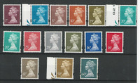 Great Britain, Postage Stamp, #MH199//MH234 Mint LH Machin Heads, JFZ