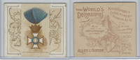 N44 Allen & Ginter, World's Decorations, 1890, #10 Crown Wurtemburg (B)