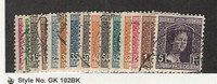 Luxembourg, Postage Stamp, #97-111 Used Set of 15, 1914-17, JFZ
