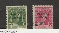 Luxembourg, Postage Stamp, #97-98 Overprint Revenue Mint Hinged, JFZ