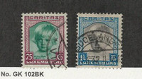 Luxembourg, Postage Stamp, #B46, B49 Used, 1931, JFZ