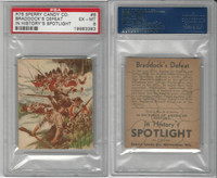 R76 Sperry Candy, In History's Spotlight, 1930's, #6 Braddock's, PSA 6 EXMT