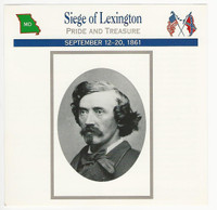 1995 Atlas, Civil War Cards, #70.04 Siege of Lexington, Colonel Mulligan