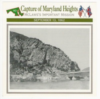 1995 Atlas, Civil War Cards, #70.05 Capture Maryland Heights, Harpers Ferry