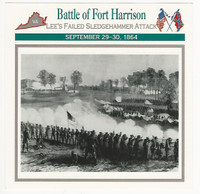 1995 Atlas, Civil War Cards, #71.09 Battle of Fort Harrison
