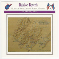 1995 Atlas, Civil War Cards, #71.10 Raid on Beverly