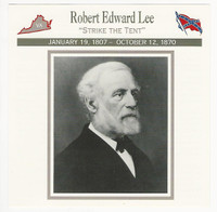 1995 Atlas, Civil War Cards, #71.19 Robert Edward Lee, General