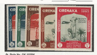 Cyrenaica - Italy, Postage Stamp, #C24-C28 Mint NH, 1934, DKZ
