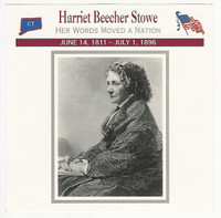 1995 Atlas, Civil War Cards, #75.01 Harriet Beecher Stowe