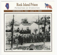 1995 Atlas, Civil War Cards, #75.16 Rock Island Prison, Illinois