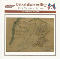 1995 Atlas, Civil War Cards, #80.07 Battle of Missionary Ridge