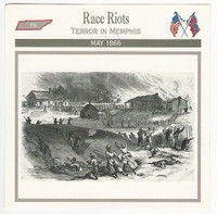 1995 Atlas, Civil War Cards, #80.20 Race Riots, Memphis