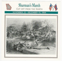 1995 Atlas, Civil War Cards, #81.07 Sherman's March, Georgia