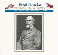 1995 Atlas, Civil War Cards, #81.13 General Robert E. Lee