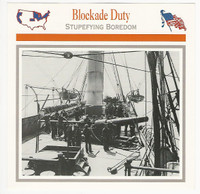 1995 Atlas, Civil War Cards, #82.12 Blockade Duty