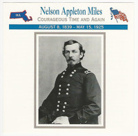 1995 Atlas, Civil War Cards, #82.14 Nelson Appleton Miles