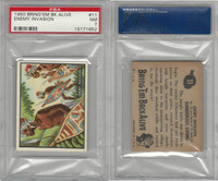 1950 Topps, Bring 'Em Back Alive, #11 Enemy Invasion, PSA 7 NM