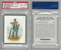 1992 Victoria, Uniforms American Civil War, #4 Confederate Infantry, PSA 8 NMMT