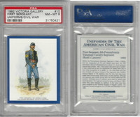 1992 Victoria, Uniforms American Civil War, #10 6th Pennsylvania, PSA 8 NMMT