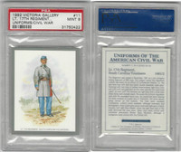 1992 Victoria, Uniforms American Civil War, #11 17th South Carolina, PSA 9 Mint