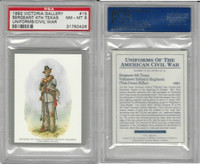 1992 Victoria, Uniforms American Civil War, #15 4th Texas, PSA 8 NMMT