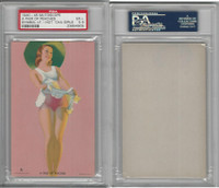 W424-2e Mutoscope, Hot-Cha Girls, 1943, A Pair of Peaches, PSA 5.5 EX+