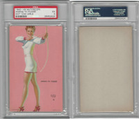 W424-2e Mutoscope, Hot-Cha Girls, 1943, Aiming To Please, Archery, PSA 5 EX