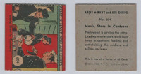 1942 R18 WS Corp, Army, Navy & Air Corp, #604 Movie Stars In Canteens, ZQL